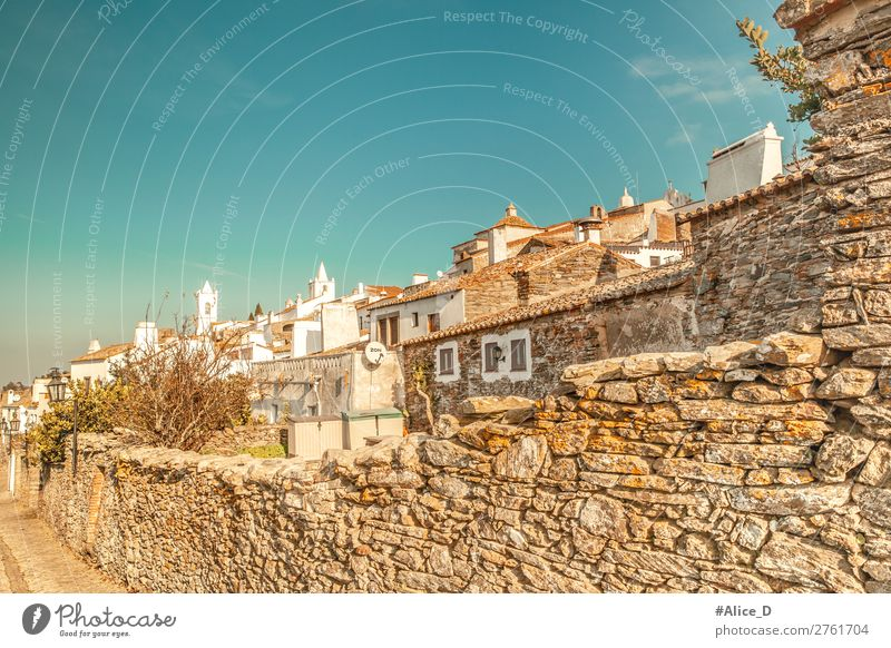 Medieval village Monsaraz in the Alentejo Portugal Vacation & Travel Tourism Winter Europe Village Small Town Old town House (Residential Structure)