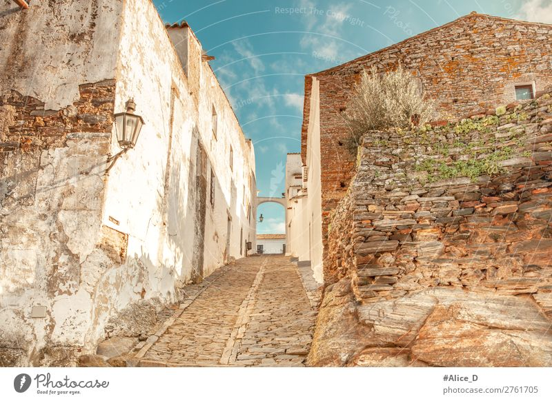 Medieval village Monsaraz in the Alentejo Portugal Vacation & Travel Tourism Europe Village Small Town Old town Deserted House (Residential Structure) Building