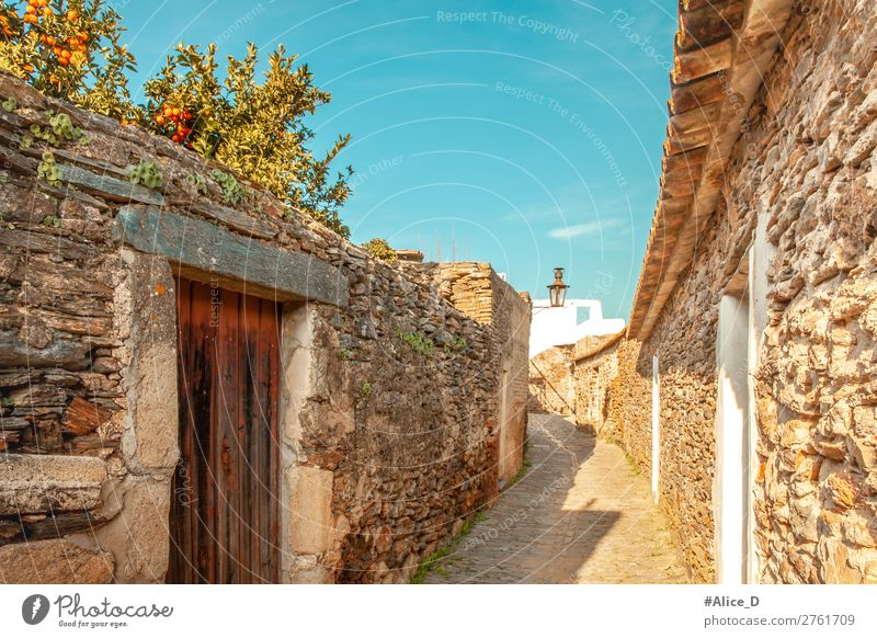 Medieval village Monsaraz in the Alentejo Portugal Vacation & Travel Europe Village Small Town Old town Deserted House (Residential Structure) Architecture