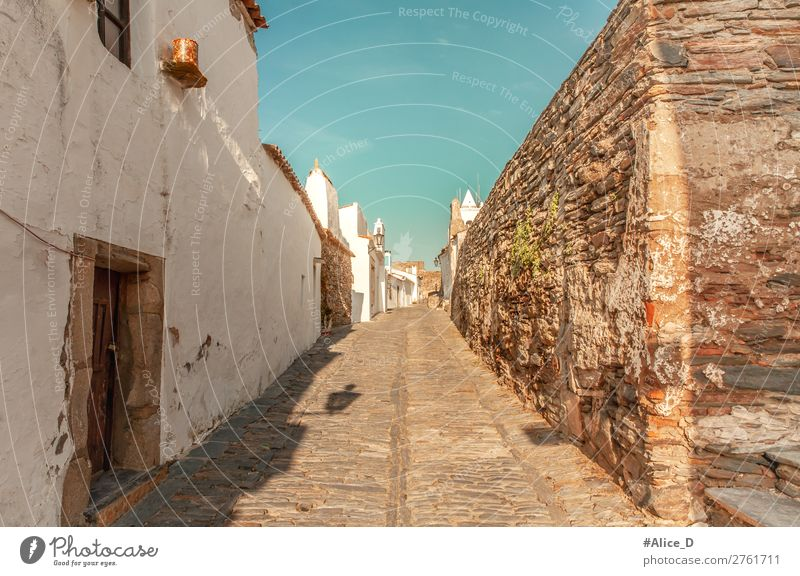 Medieval village Monsaraz in the Alentejo Portugal Vacation & Travel Tourism Europe Village Small Town Old town Overpopulated House (Residential Structure)