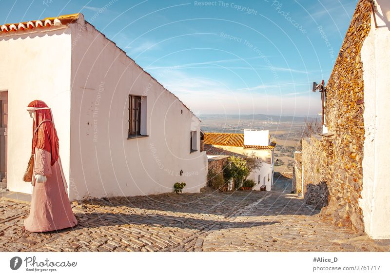 Medieval village Monsaraz in the Alentejo Portugal Vacation & Travel Tourism Europe Village Small Town Old town House (Residential Structure) Architecture