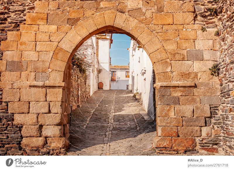 Medieval village Monsaraz in Alentejo Portugal Vacation & Travel Tourism Sightseeing City trip Winter Architecture Europe Village Small Town Downtown Old town