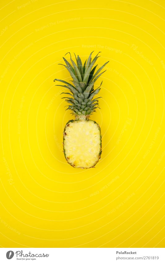 #A# PineappleYellow Food Fruit Dessert Nutrition Esthetic Ananas leaves Pineaple platation Tropical fruits Exotic Vitamin Vitamin-rich Juice Juicy Colour photo