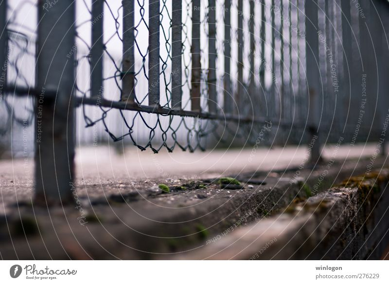 A fence Wuppertal Federal eagle Europe Town Outskirts Bridge Gate Manmade structures Architecture Fence Fence post Thorny Barbed wire fence Metal Wall (barrier)