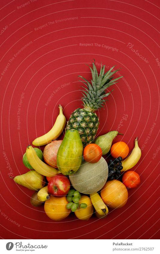 #A# Vitamin cocktail Art Esthetic Fruit Fruit basket Fruit salad Fruit- or Vegetable stall Fruit bowl Fruit store Many Pineapple Vitamin-rich Vitamin C Banana