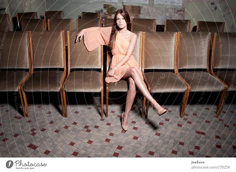 Woman Beautiful Loneliness Adults Warmth Style Room Sit Wait Lifestyle Individual Shows Uniqueness Chair Dress Curiosity