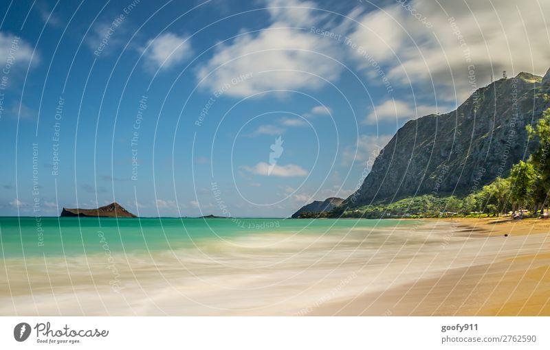 Sky Vacation & Travel Nature Summer Beautiful Water Landscape Ocean Relaxation Clouds Loneliness Far-off places Beach Environment Tourism Freedom