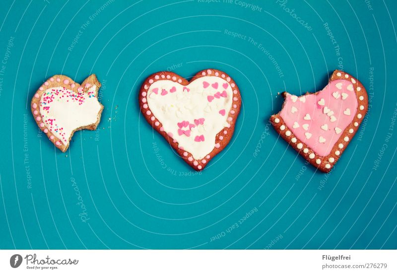 Of whole gingerbread hearts Candy Nutrition Sweet Gingerbread Heart Pink Kitsch Baked goods Christmas & Advent Public Holiday Delicious To enjoy Decoration