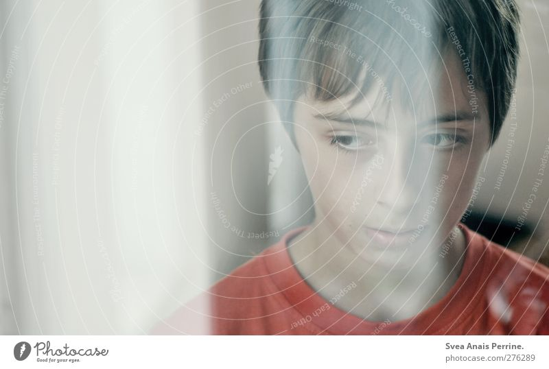 1100. Boy (child) Head Hair and hairstyles Face Human being 8 - 13 years Child Infancy Dream Sadness Emotions Reflection Colour photo Subdued colour