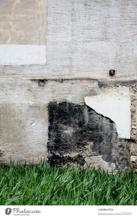 Old House (Residential Structure) Wall (building) Architecture Wall (barrier) Building Facade Tracks Manmade structures Plaster Patch Remainder Hideous