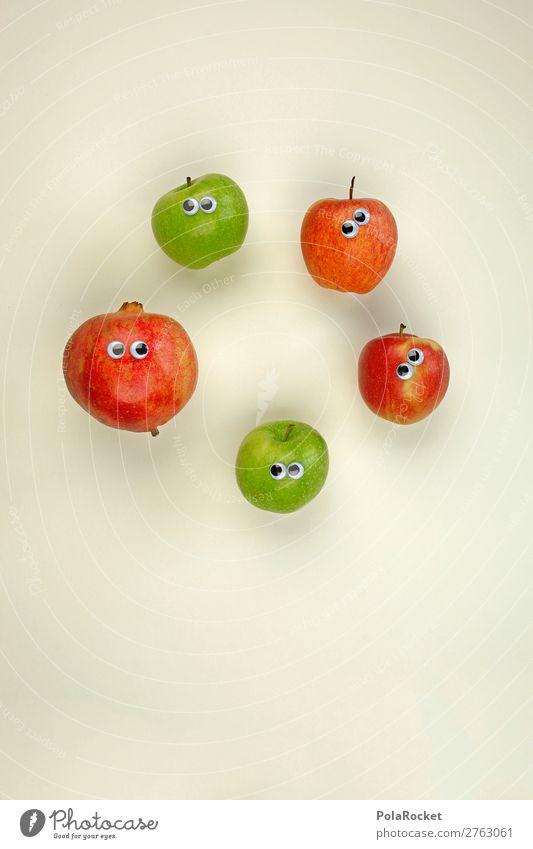 #AJ# Everybody different. A family. Art Esthetic Fruit Fruit garden Fruit salad Vegetarian diet Apple Apple harvest Pomegranate Eyes Foreign Foreign language