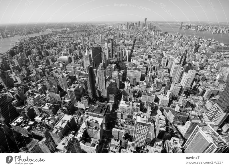 big apple Lifestyle Tourism Sightseeing City trip New York City Capital city Port City Deserted High-rise Vacation & Travel Growth Infinity Black White Might
