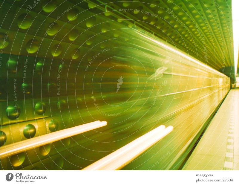 Railroad Speed Driving Underground Train station London Underground Subsoil Platform Prague