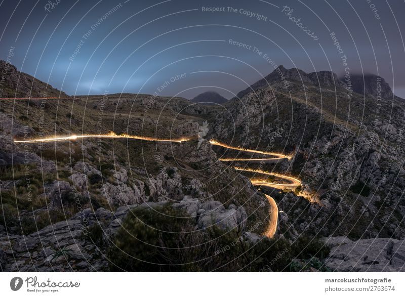 Road full of light - Coll dels reis - Mallorca Leisure and hobbies Vacation & Travel Tourism Trip Far-off places Freedom Island Hiking Environment Nature