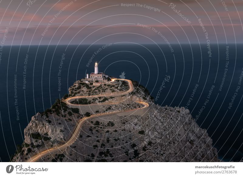 Cap Formentor - Mallorca at dusk Leisure and hobbies Vacation & Travel Tourism Trip Adventure Far-off places Sightseeing City trip Summer vacation Ocean Island