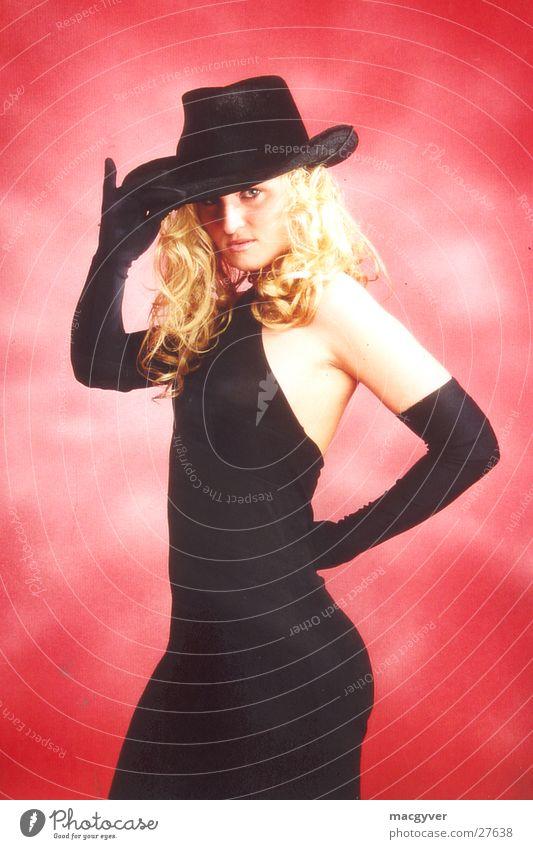 How do you do? Blonde Black Velvet Salutation Hand Woman