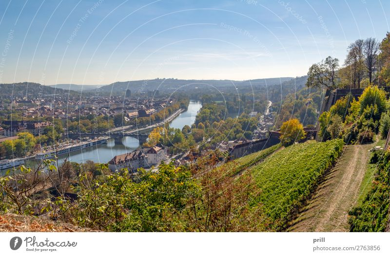 Wuerzburg in Bavaria House (Residential Structure) Culture Autumn Hill Brook River Town Bridge Building Architecture Roof Old Historic Tradition Würzburg