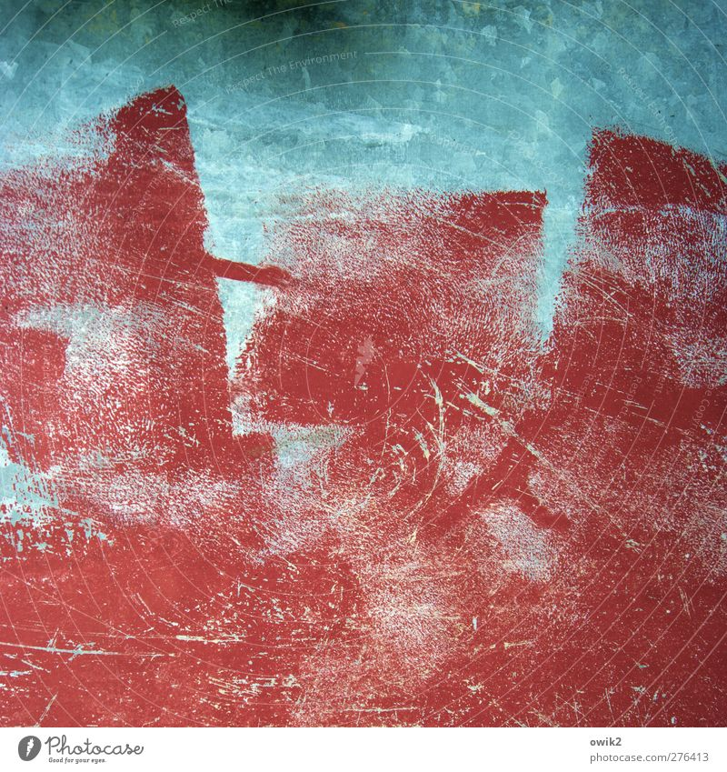 Örnste Konst Art Painting and drawing (object) Metal Blue Red Play of colours Work of art Colour photo Multicoloured Abstract Pattern Structures and shapes
