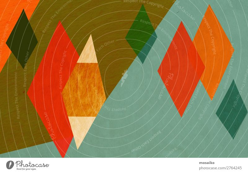 colorful geometric shapes - paper texture - graphic design Lifestyle Elegant Style Design Exotic Joy Well-being Contentment Feasts & Celebrations Carnival Art