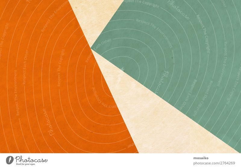 Graphic shapes - orange and green Lifestyle Elegant Style Design Leisure and hobbies Culture Event Retro Green Orange Joie de vivre (Vitality) Trust Orderliness