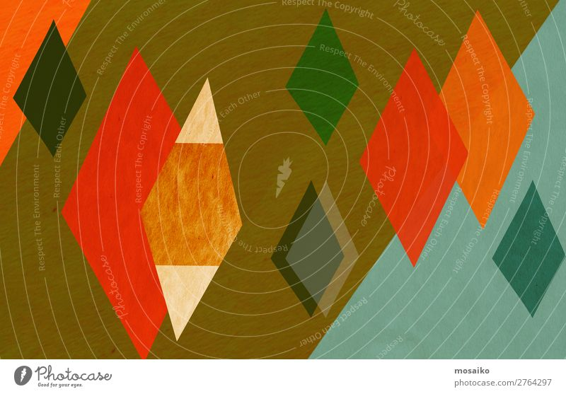 colorful geometric shapes - paper texture - graphic design Lifestyle Style Design Exotic Joy Decoration Wallpaper Feasts & Celebrations Paper Retro