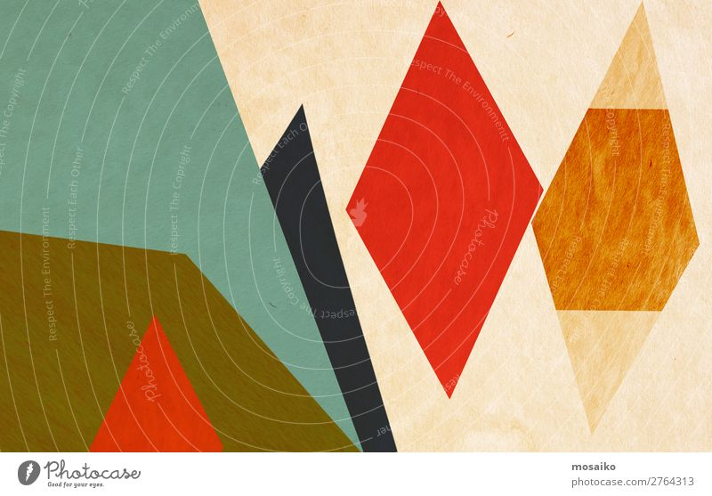 colourful geometric shapes - graphic design Joy Life Style Art Design Decoration Retro Dirty Elegant Culture Happiness Creativity Joie de vivre (Vitality)