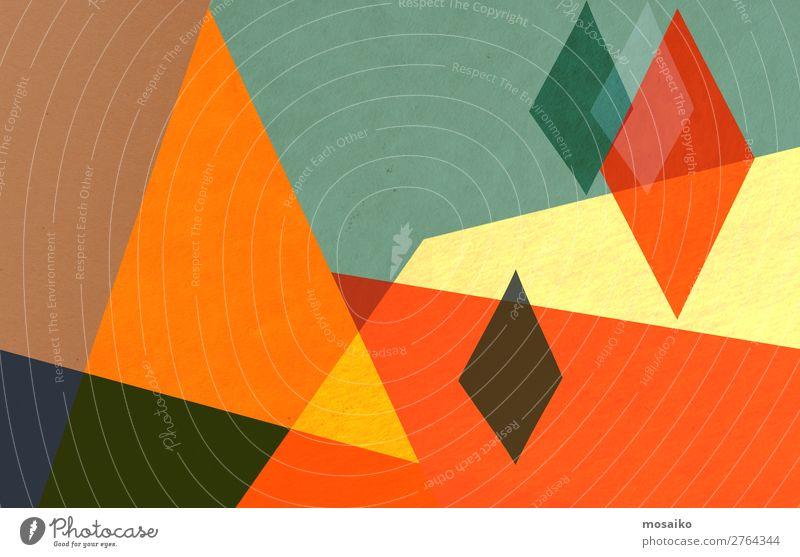 colorful geometric shapes - paper texture - graphic design Lifestyle Elegant Style Design Joy Leisure and hobbies Decoration Wallpaper Entertainment Party