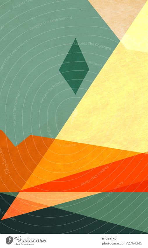 colorful geometric shapes - paper texture - graphic design Lifestyle Elegant Style Design Joy Wellness Harmonious Well-being Meditation Decoration Wallpaper