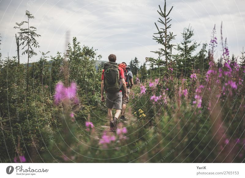Hiking day 12 thousand meter 1 Vacation & Travel Tourism Trip Adventure Far-off places Freedom Camping Summer Summer vacation Masculine Man Adults Friendship