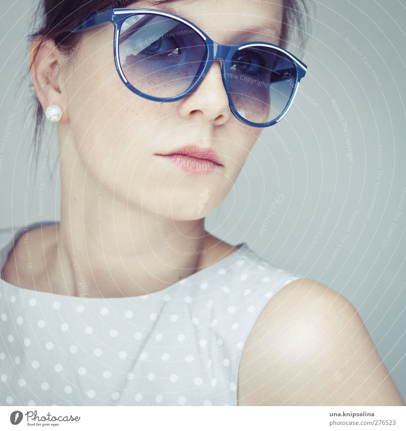 Human being Woman Youth (Young adults) Blue Beautiful Adults Feminine Young woman Style 18 - 30 years Natural Elegant Design Lifestyle Cool (slang) Retro