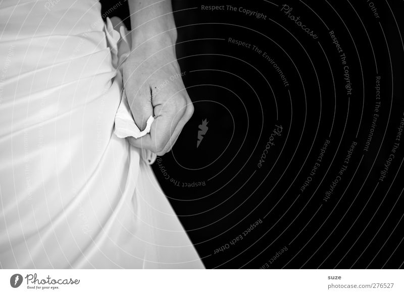 tension Feasts & Celebrations Wedding Human being Feminine Young woman Youth (Young adults) Adults Hand Fingers 1 18 - 30 years To hold on Black White