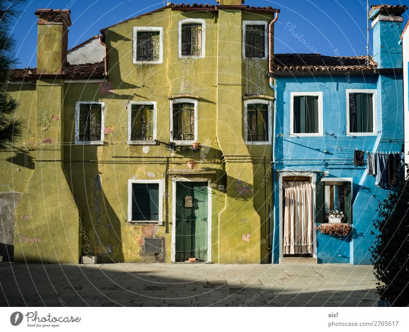 Burano 01 Vacation & Travel Tourism Trip Sightseeing City trip House (Residential Structure) Cloudless sky Beautiful weather Ocean Adriatic Sea Island Italy