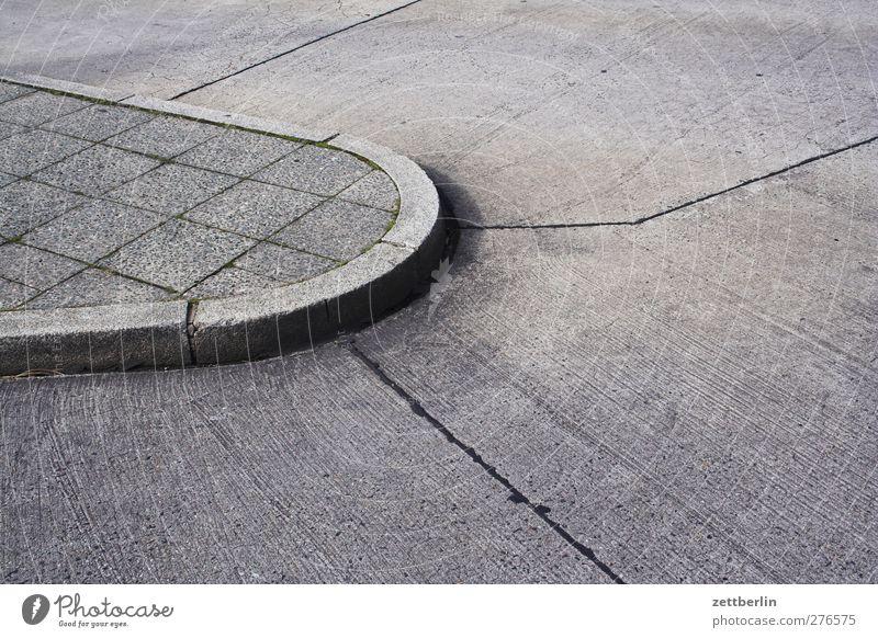City Lanes & trails Berlin Gray Line Transport Copy Space Places Concrete Corner Footpath Sidewalk Part Division Tile Downtown