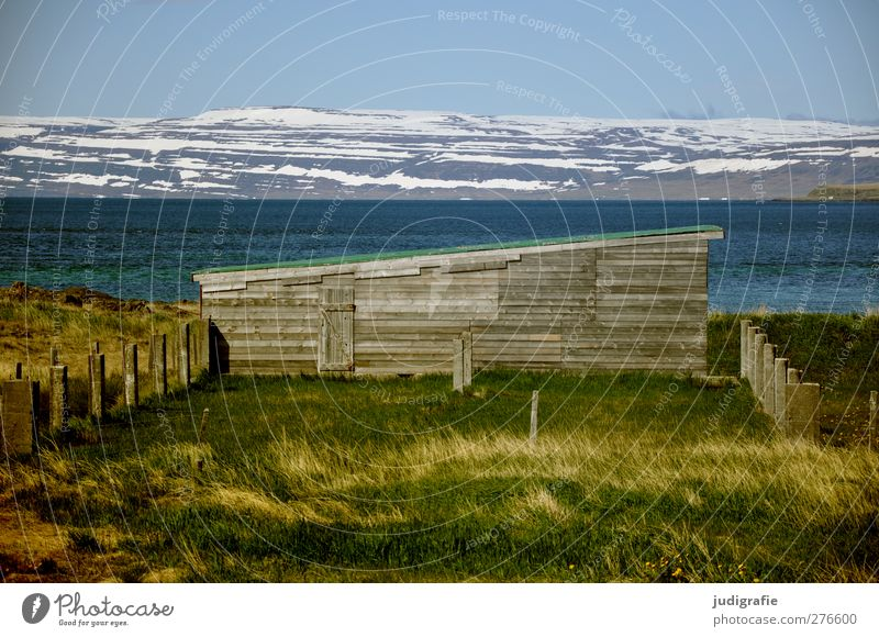Sky Nature Water Plant House (Residential Structure) Landscape Environment Mountain Building Climate Natural Idyll Hill Snowcapped peak Hut Iceland