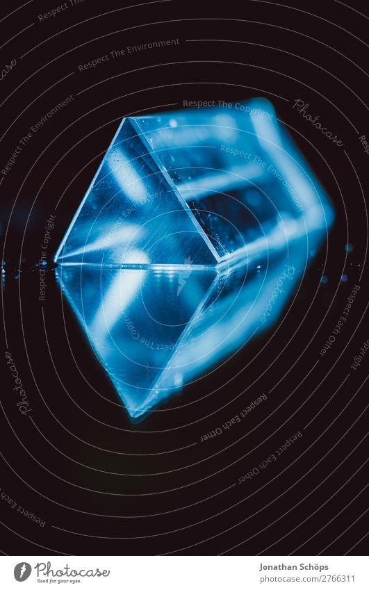 Futuristic Prism Science Fiction Geometry Science & Research Computer Information Technology Retro Blue Red Black Universe Extraterrestrial being Triangle