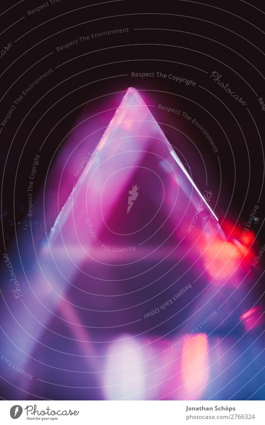 Prism Laser Sci-fi Background Triangle Glass Graph Background picture Information Technology Crystal structure Laser pointer Light Macro (Extreme close-up)
