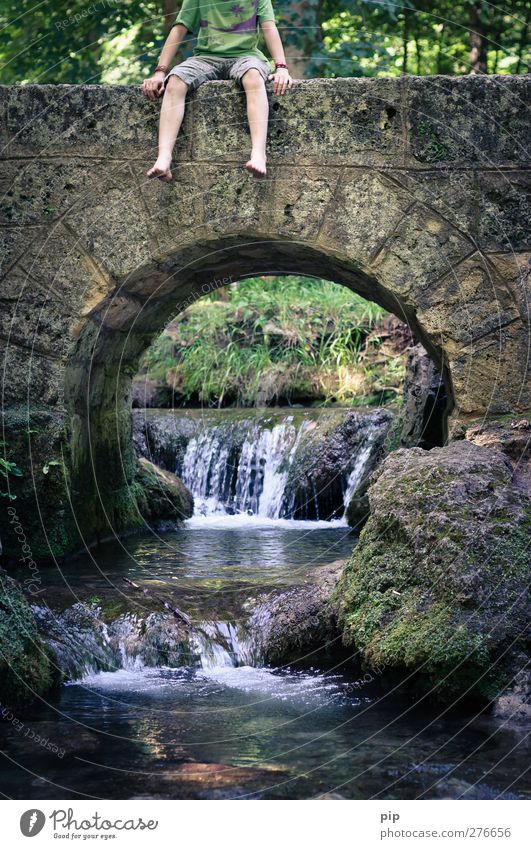 And now what? Human being Masculine Child Boy (child) Arm Hand Legs Feet 1 8 - 13 years Infancy Brook Waterfall Bridge Tunnel Fresh Cold Boredom Contentment