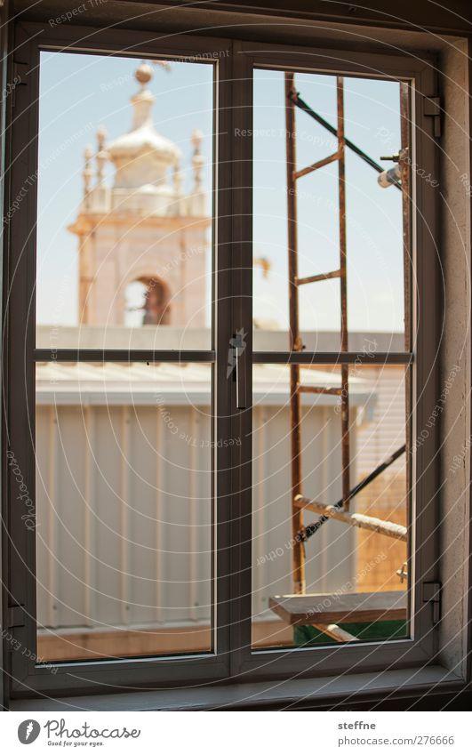 City Summer Window Church Scaffold Lisbon