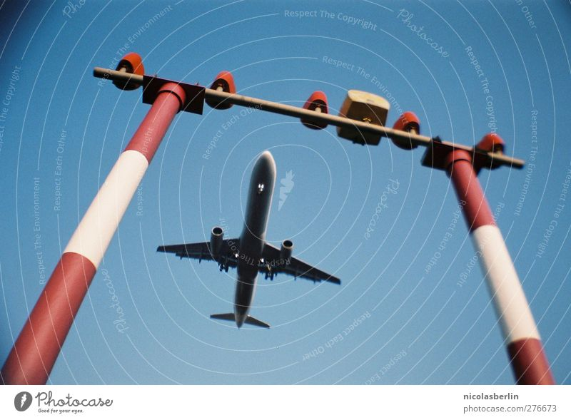 Vacation & Travel Far-off places Berlin Freedom Flying Large Signs and labeling Transport Tourism Airplane Aviation Airplane takeoff Airport Summer vacation Airplane landing Machinery