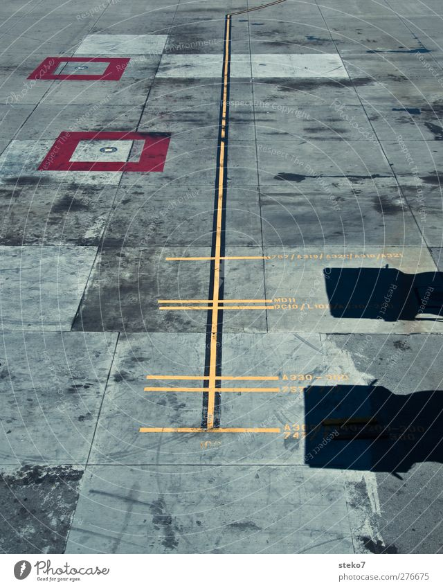 City Red Yellow Gray Line Signs and labeling Concrete Airplane Runway Airfield Parking space Complain Marker line Size difference