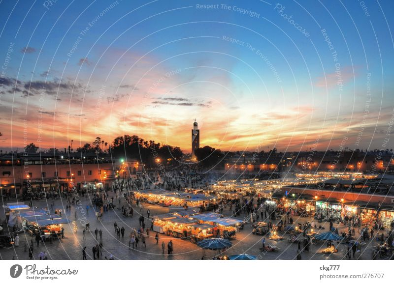 City House (Residential Structure) Emotions Church Tower Downtown Tourist Attraction Marketplace Populated Mosque Morocco City trip Marrakesh