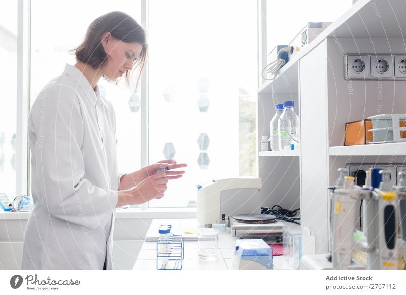 Woman working in laboratory Laboratory Work and employment Science & Research Human being Scientist