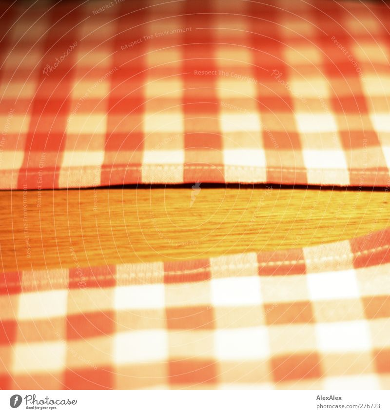 White Red Yellow Wood Brown Lie Design Corner Warm-heartedness Cloth Clean Simple Kitsch Meal Checkered Tablecloth