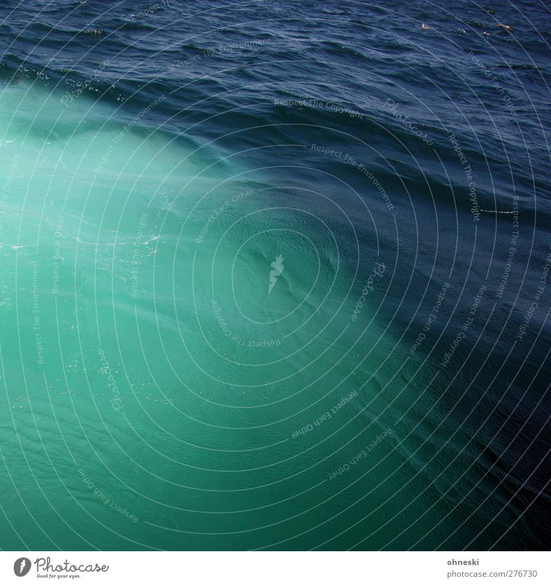 ocean Elements Water Waves Ocean The Bosphorus Deserted Blue Green Turquoise Colour photo Exterior shot Pattern Structures and shapes Copy Space top
