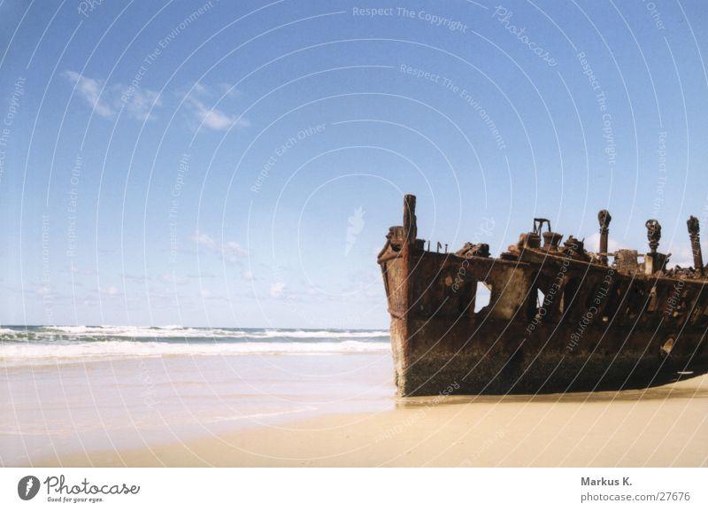 maheno Beach Ocean Decline Transience Australia Wreck Fraiser Island