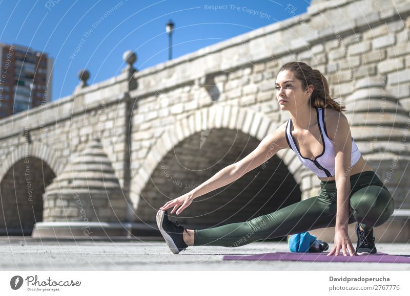 woman doing yoga and pilates outdoor with her mat Woman Human being Nature Beautiful Relaxation Lifestyle Adults Warmth Sports Park Body Smiling Action Fitness