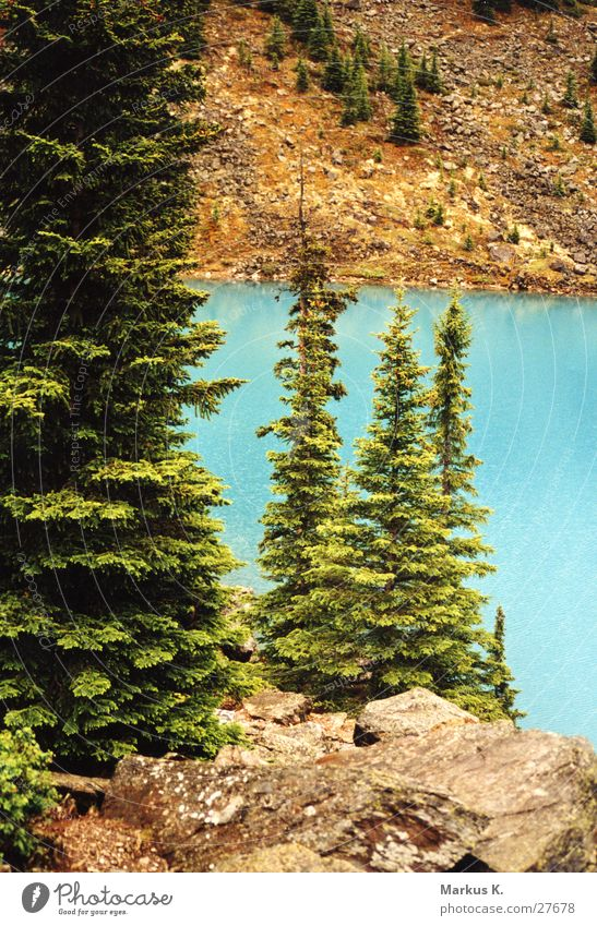 Blue Lake Turquoise Canada British Columbia Moraine lake