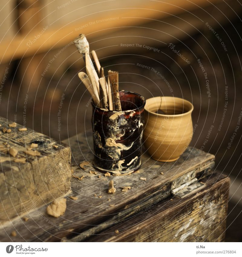of the Potter Committee Craft (trade) Handicraft market Creativity Do pottery Pottery Colour photo Exterior shot Close-up