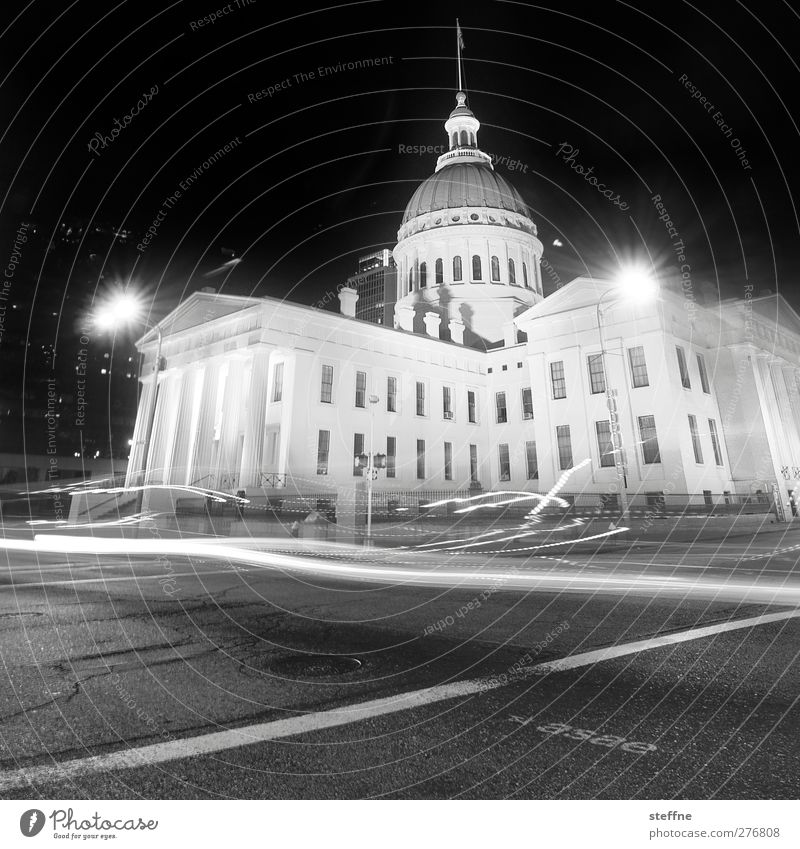 City House (Residential Structure) Exceptional Transport USA Historic Downtown City hall Witching hour St. Louis