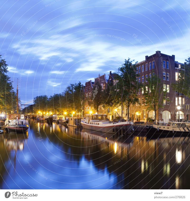 Amsterdam Sky Beautiful weather Town Capital city Port City Downtown Old town House (Residential Structure) Navigation Inland navigation Authentic Fresh Modern